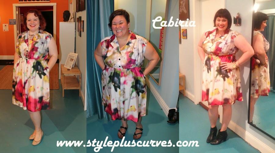 Cabiria Plussize Floral Dress 3 girls, 1 dress