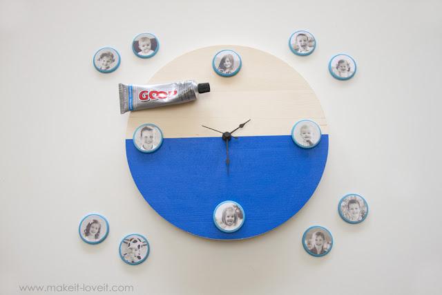 Diy reloj con fotos8