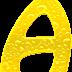 Alfabeto Amarillo con Textura Líquida.