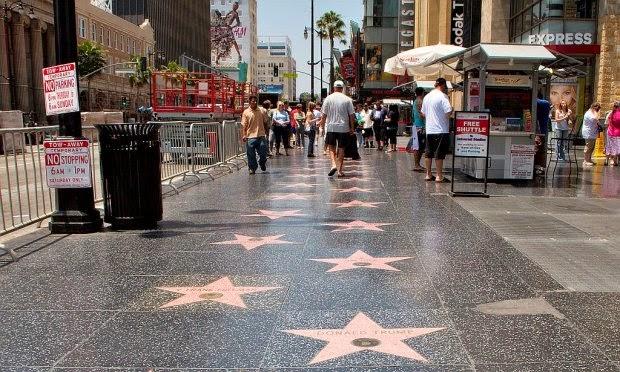 Calçada da Fama em Hollywood Los Angeles