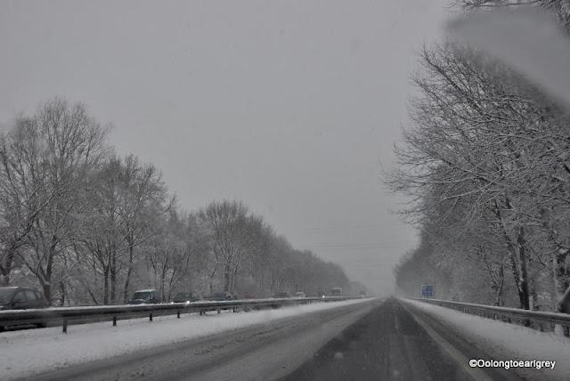 Snowy, Autobahn, Germany