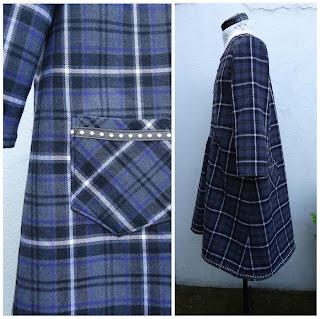 Dress V: back pocket detail and side view