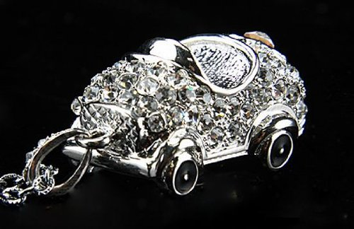 Crystal Car Necklace Pendrive