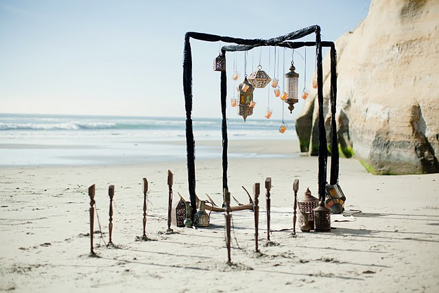 Funky Outfits Hanging Lanterns Ceremony Arch And BEYOND GORGEOUS Table Scape Its A Perfect Inspiration Source For Any Rustic Beach Bride