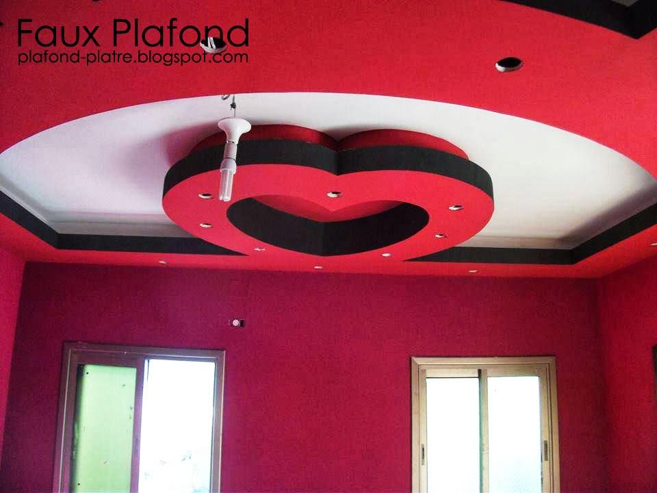 Faux plafond en style de cœur 2014 | Faux Plafond Platre suspendu et ...