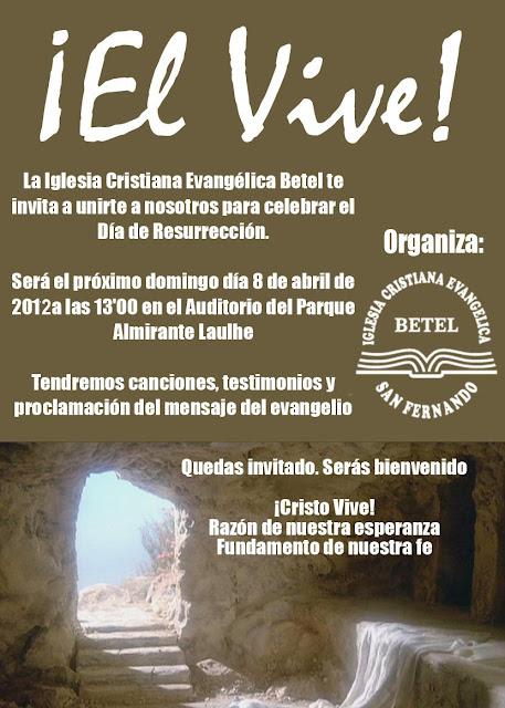 Culto de resurrección en el Parque Almirante Laulhé, el 8 de abril a las 13:00 horas