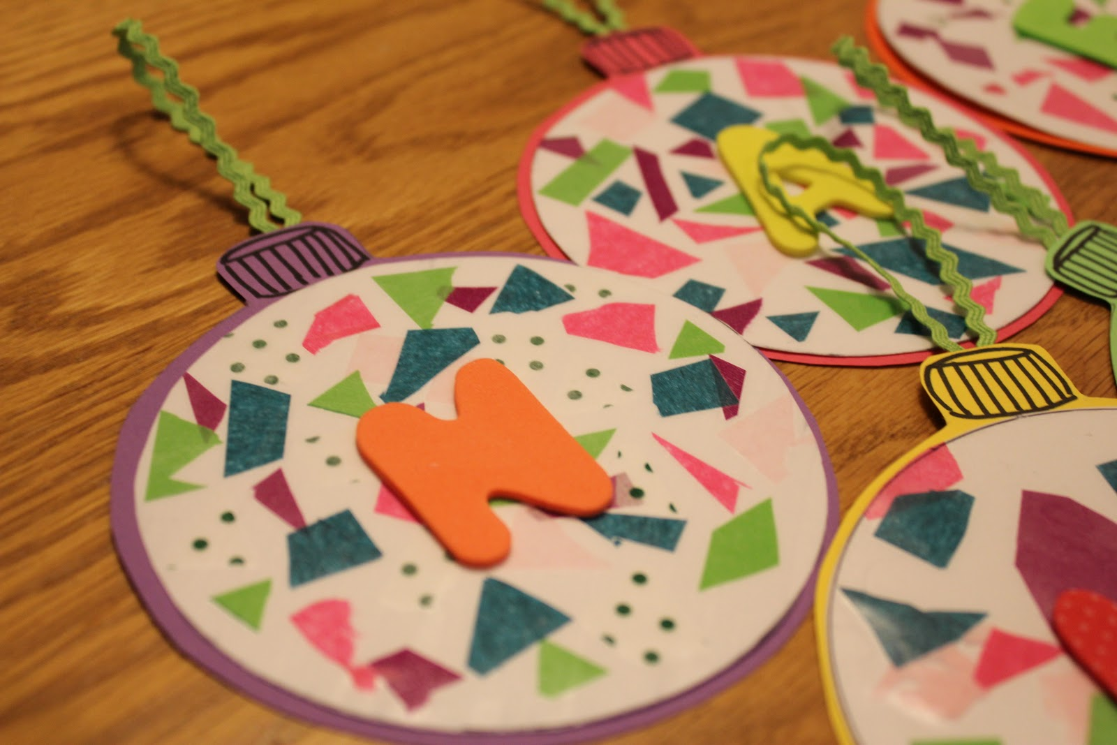 Ornaments with names on them - Have Your Child Spell His Name And Hang The Ornaments Somewhere Where He Can See Them Often