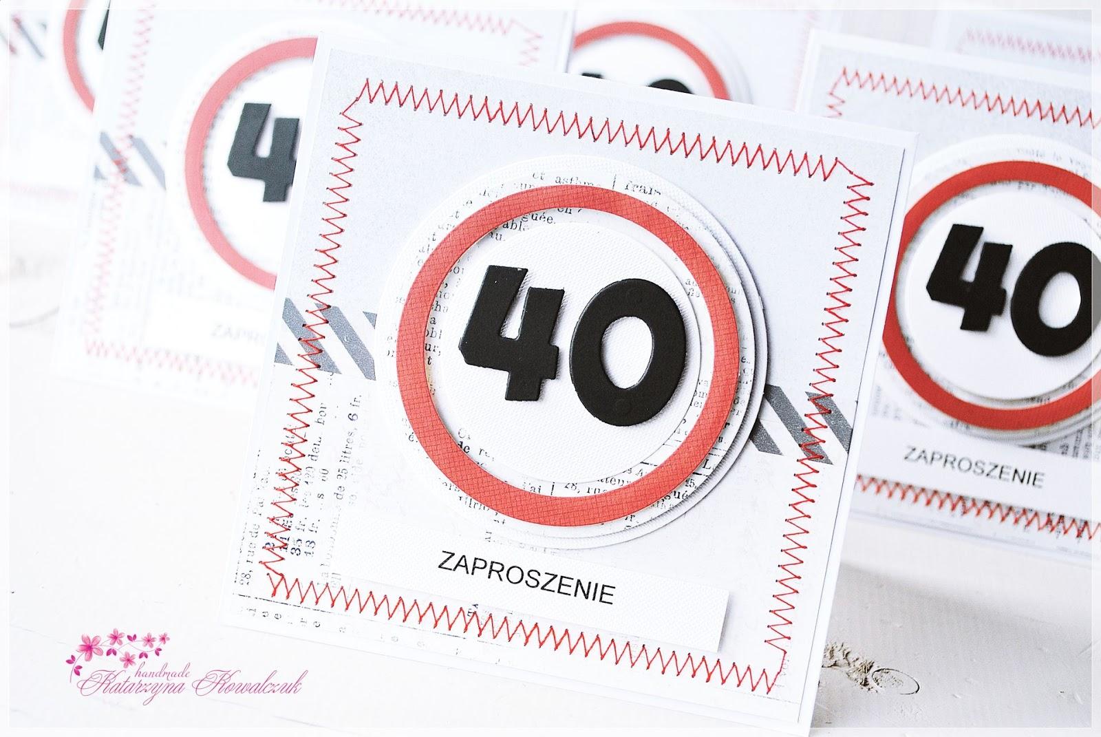 Scrapbooking Moja Codzienność Mój Czas Zaproszenie Na 40 Ste
