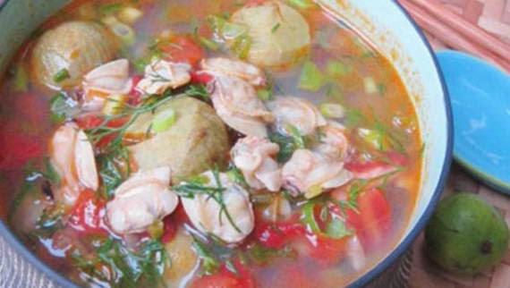Cách làm món Canh ngao nấu sấu ngon