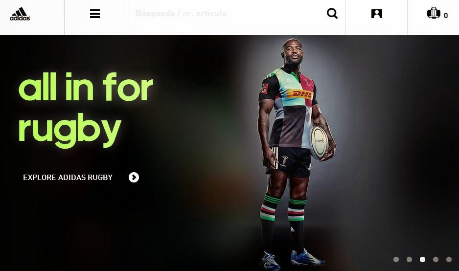 Portada de la sección de balonmano de la nueva web de adidas