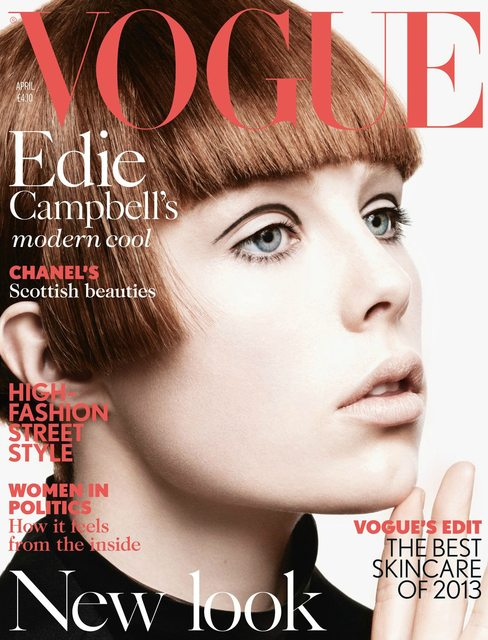 Edie Campbell on the Cover of British Vogue April 2013