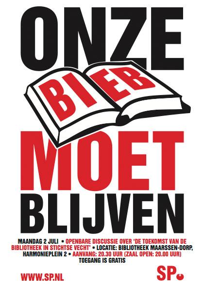 Kockengen net maandag 2 juli openbare discussie over de toekomst van de bibliotheek in - Te creeren zijn bibliotheek ...
