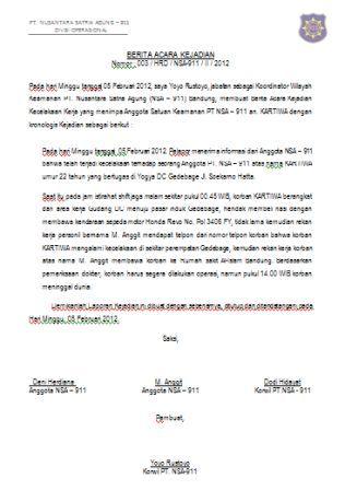 81 Info Download Contoh Surat Laporan Kejadian Pdf Doc Zip