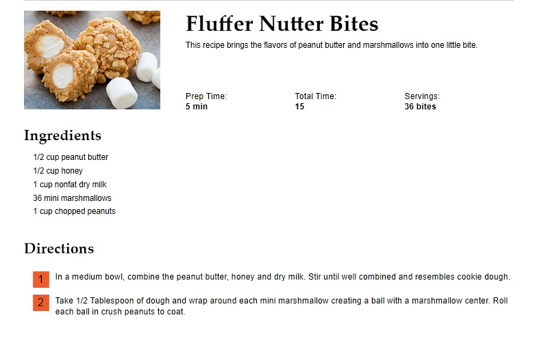 Fluffer Nutter Bites Recipe — Dishmaps
