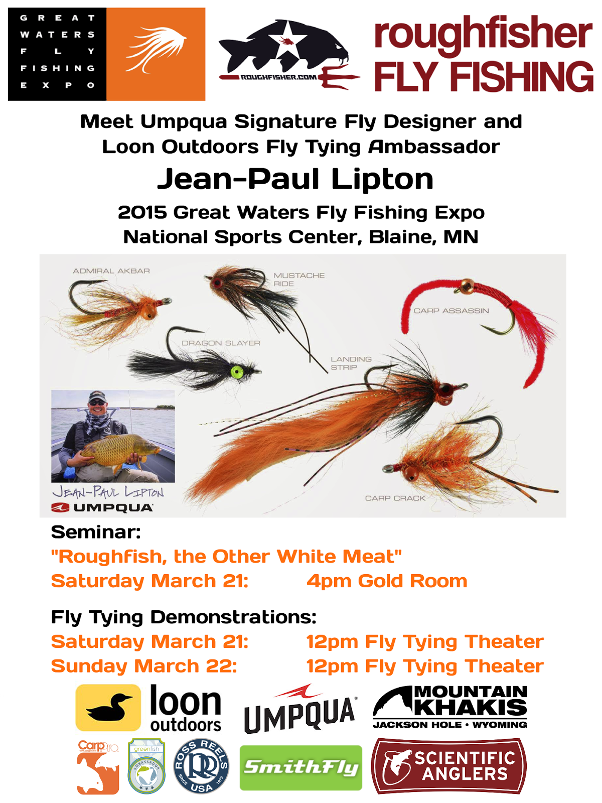 Jean-Paul Lipton at 2015 Great Waters Fly Fishing Expo