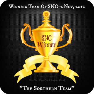 SNC SOUTH TEAM WON - NOV 2012