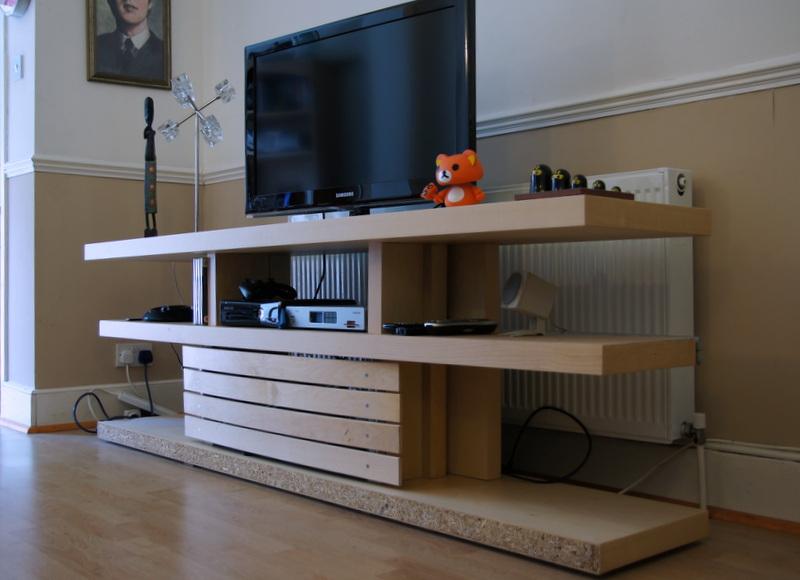 Optimalm Prime Malm Bed Base Transformed Into A Tv Unit