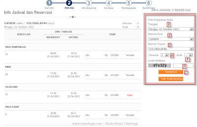 Daftar harga tarif tiket kereta api, jadwal dan cara pemesanan tiket online KAI - www.teknologiz.com