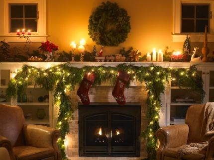 Chimeneas en navidad ideas para decorar dise ar y - Chimeneas de adorno ...