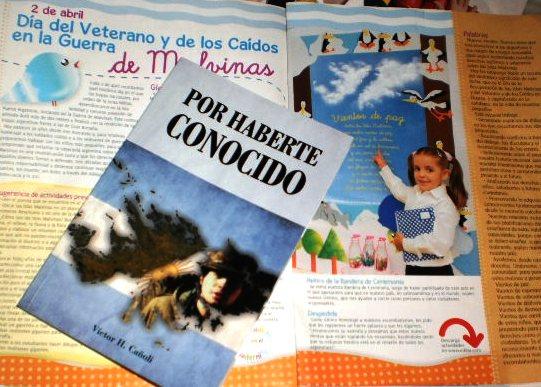 """LIBRO """"POR  HABERTE CONOCIDO """"  AUTOR VICTOR H. CAÑOLI"""