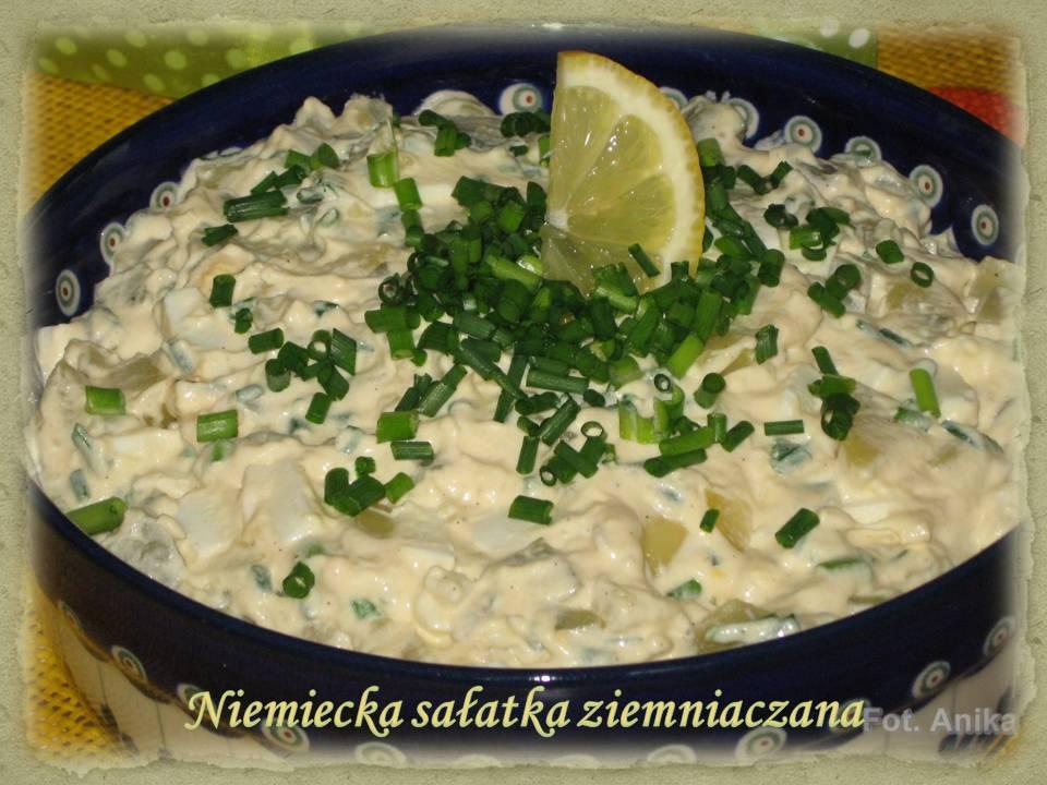 Tradycyjna Salatka Ziemniaczana Niemiecka sa Atka Ziemniaczana
