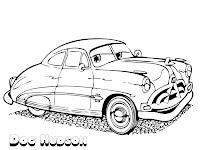 Mewarnai Gambar Doc Hudson Sang Legenda Dari Film Disney Cars
