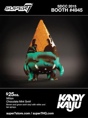"San Diego Comic-Con 2015 Exclusive ""Chocolate Mint Swirl"" Kandy Kaiju Mini Vinyl Figures by Super7 - Milton"