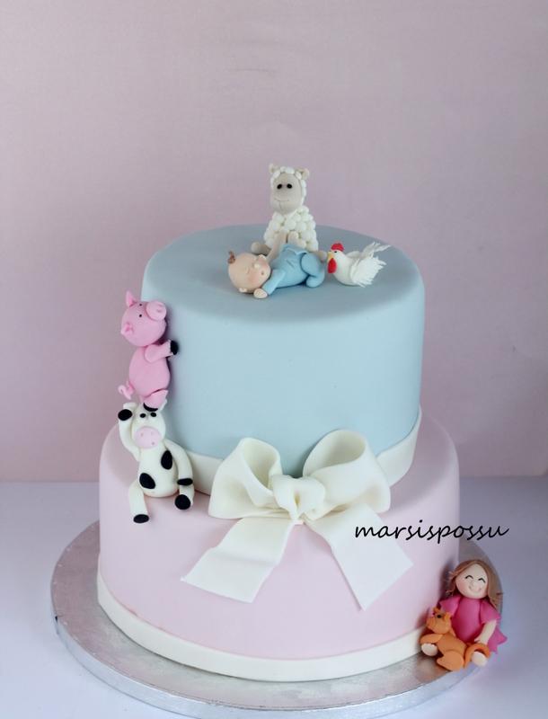 maatilan eläimet -kakku