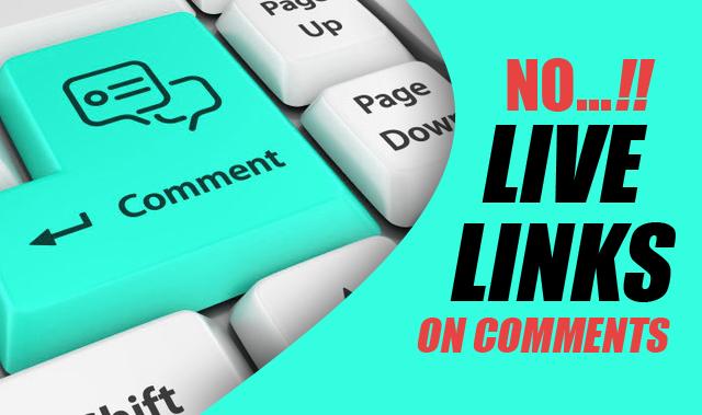 Membuat Link Aktif pada Komentar Menjadi Teks Biasa