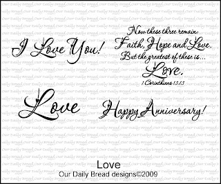 Our Daily Bread designs stamps, Love, 