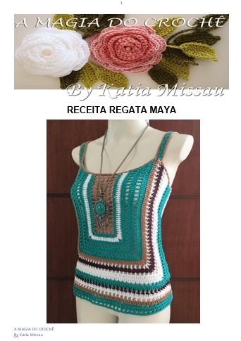 LANÇAMENTO! Receita Regata Maya
