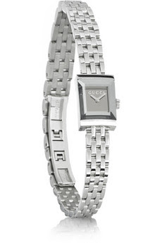 G Frame stainless steel mirrored watch