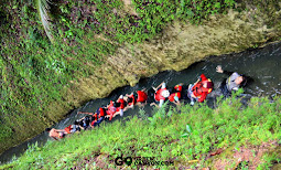 mengikuti aliran drainase sungai citumang