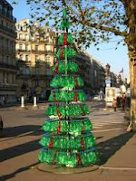 arbol de navidad reciclado con botellas pet de sprite