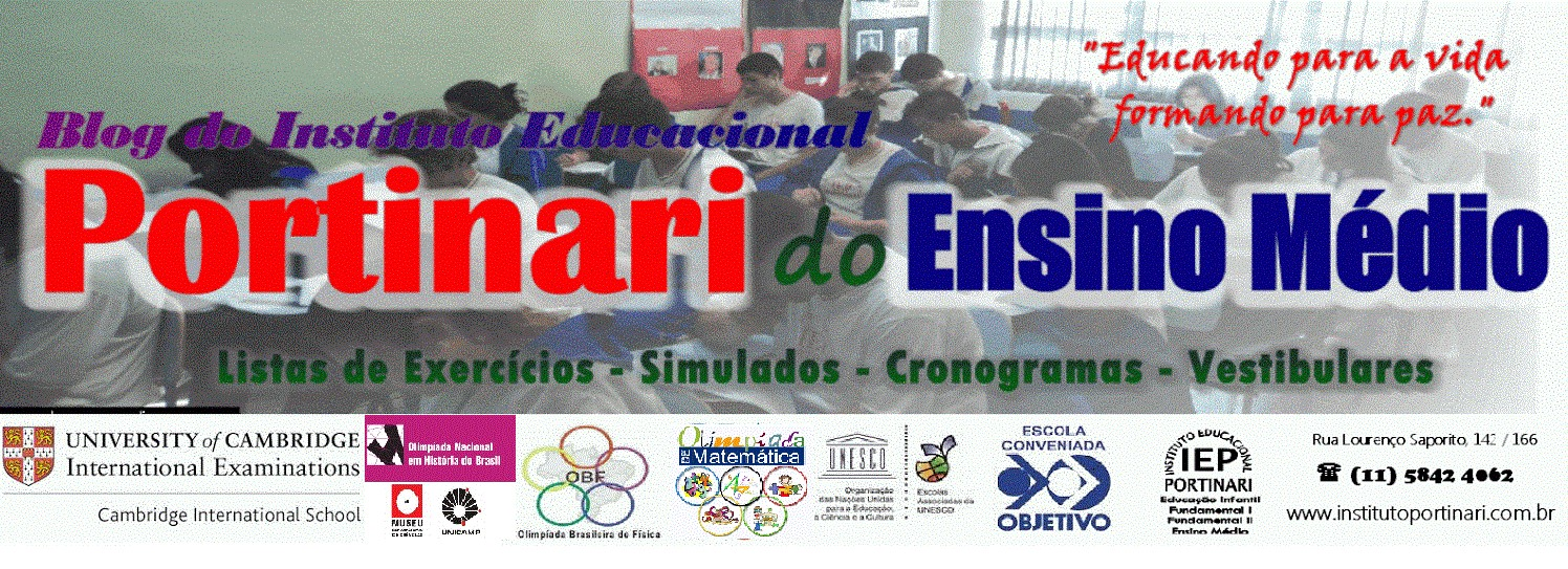 PORTAL DO ENSINO MÉDIO - INSTITUTO EDUCACIONAL PORTINARI
