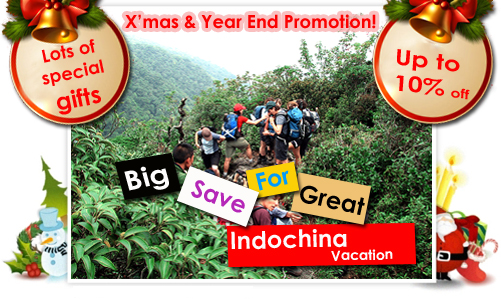 "ACTIVETRAVEL ASIA launches ""Big Save for Great Indochina Vacation"" promotion for Christmas and New Year 2013."