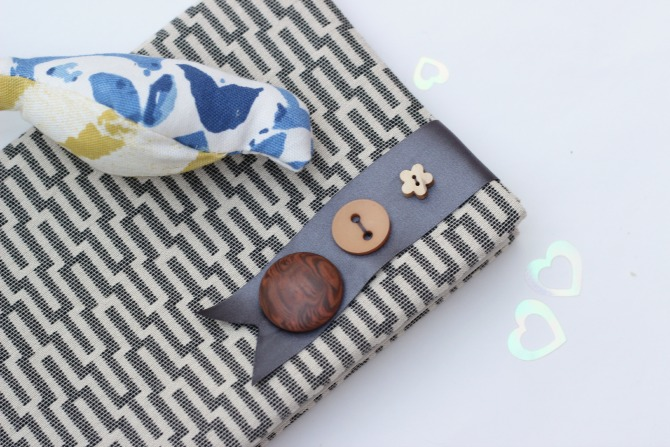 Handmade stitched book cover