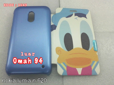 Jual Flip Cover Case Nokia Lumia N 620 Donald Duck Biru (Blue) | Toko