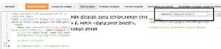 mencari script template blog