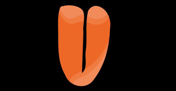 Desenho colorido Órgãos do sentido língua