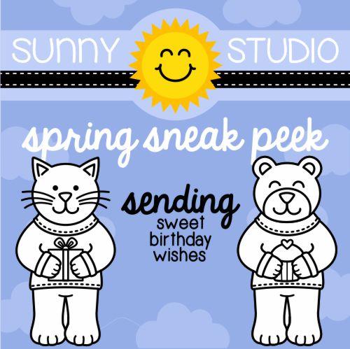 Sunny Studio Sending My Love Valentine's Day Stamp Set Sneak Peek