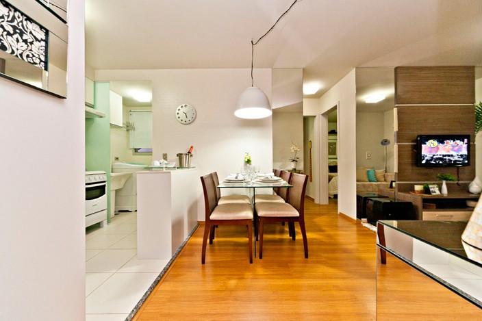 Decora o apartamento pequeno decorado decora o de for Apartamentos decorados pequenos