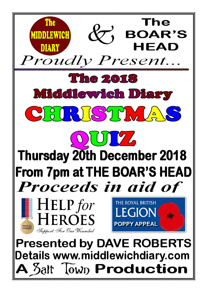 THIS YEAR'S MIDDLEWICH DIARY CHRISTMAS QUIZ!