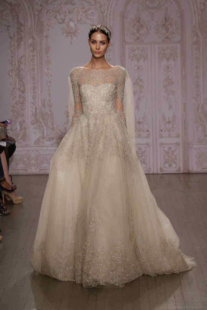 No name fashion 100 most beautiful wedding dresses from for Monique lhuillier wedding dresses