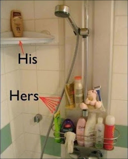 woman take shower