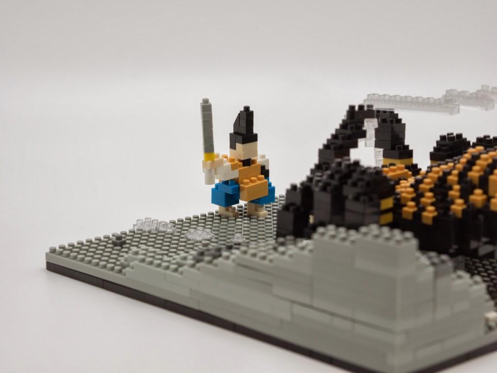 ナノブロックで作った土蜘蛛