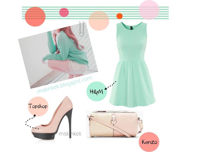mint,elbise,moda,zara,topshop,kenzo,trend