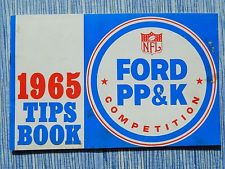 "Punt, Pass and Kick ""Tips Book"" from 1965. The contest was sponsored by the Ford Motor Company."