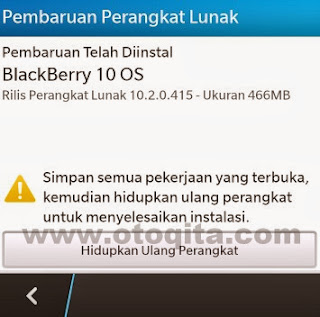 Cara Update BlackBerry OS 10