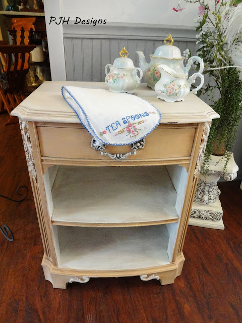 Peaches and Cream Table Makeover   PJH Designs